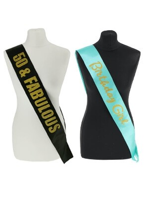 Birthday Sashes and Badges