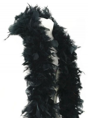 Deluxe Black Feather Boa – 100g -180cm