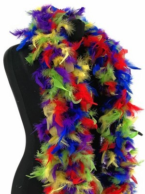 Deluxe Multi-Coloured Feather Boa – 100g -180cm