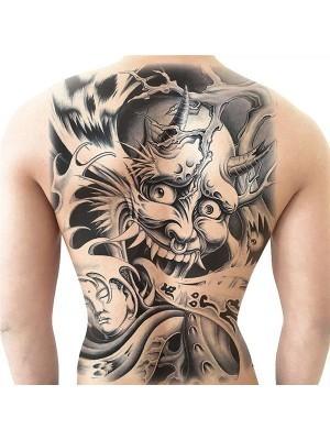 Samurai Devil Full Back Temporary Tattoo Body Art Transfer No. 17