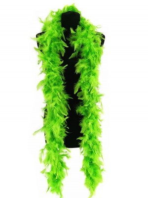 Beautiful Neon Green Feather Boa – 50g -180cm
