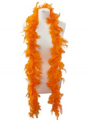 Beautiful Orange Feather Boa – 50g -180cm