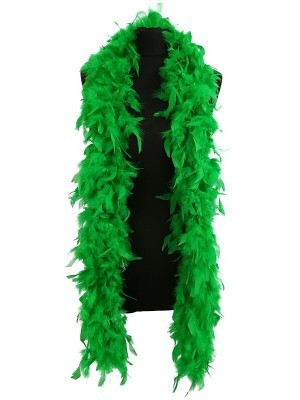 Luxury Green Feather Boa – 80g - 180cm