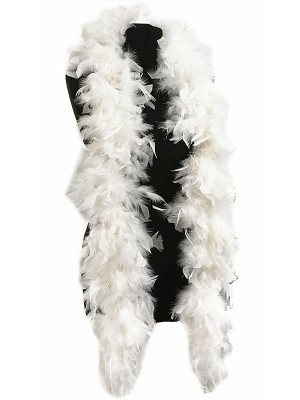Luxury White Feather Boa – 80g -180cm