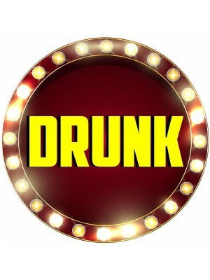 'Drunk' Circle Word Board Photo Booth Prop