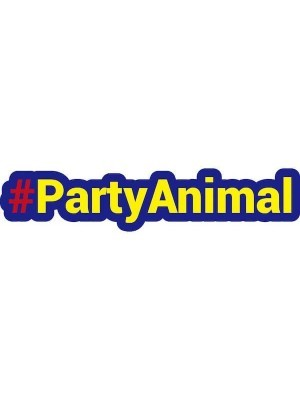 #PARTYANIMAL Trending Hashtag Oversized Photo Booth PVC Word Board Sign