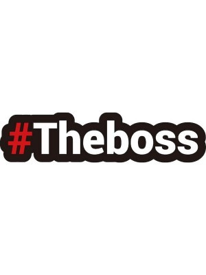 #THEBOSS Trending Hashtag Oversized Photo Booth PVC Word Board Sign