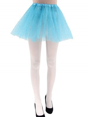 Adult - Blue Tutu Skirt with Silver Stars