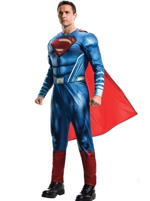 Adult Deluxe Superman DC Justice League Fancy Dress Costume