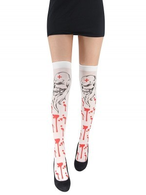 Adult Halloween Stockings - Evil Skulls and Dripping Blood