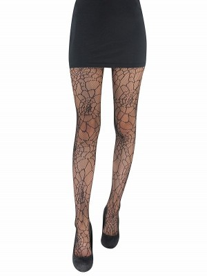 Adult Halloween Fishnet Tights - Sexy Spider Webs