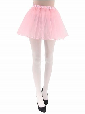 Adult - Light Pink Tutu Skirt with Ribbon Trim