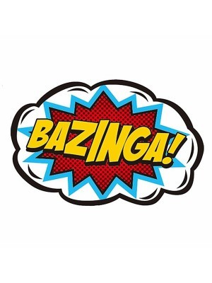 'Bazinga!' Pop Art Style Photo Booth Prop