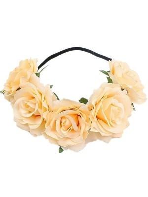 Beautiful Champagne Garland Flower Headband
