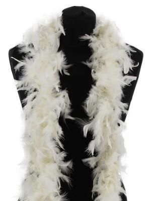 Beautiful Ivory Cream Feather Boa – 50g -180cm