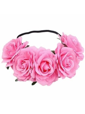 Beautiful Light Pink Garland Flower Headband