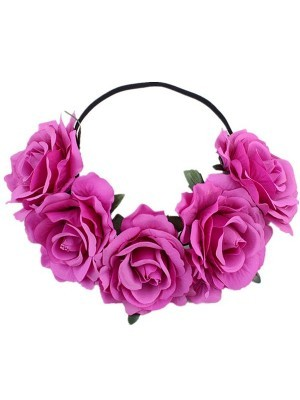 Beautiful Light Purple Garland Flower Headband
