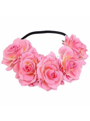 Beautiful Pink With White Garland Flower Headband