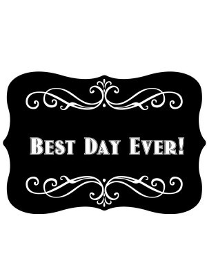 'Best Day Ever' Vintage Style Photo Booth Prop