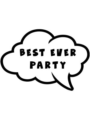 'Best Ever Party' Speech Bubble Photo Booth Prop