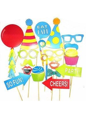 Ready Made Bright Birthday Props On Sticks