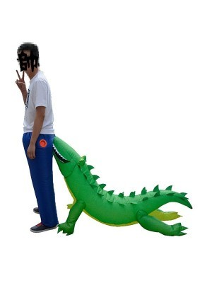 Bite you on the Bum Trousers Crocodile Attack Inflatable Fancy Dress Costume