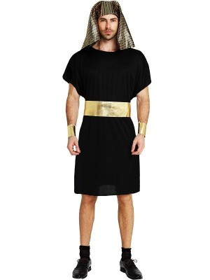 Black Egyptian pharaoh Fancy Dress Costume – One Size
