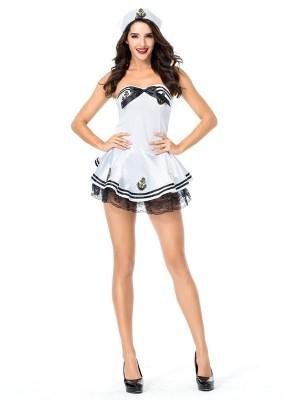 Black & Gold Anchor Sailor Fancy Dress Costume