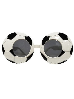 Black & White Football Soccer Glasses