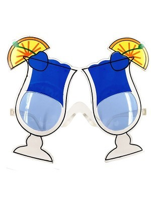 Cool Ice Blue Cocktail Glasses