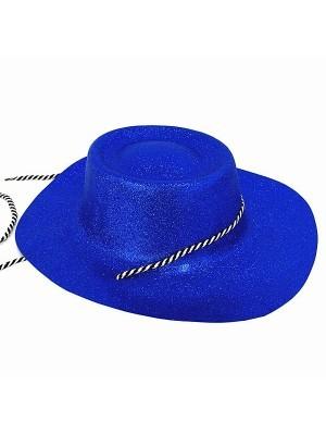 Blue Glitzy Cowboy Hat