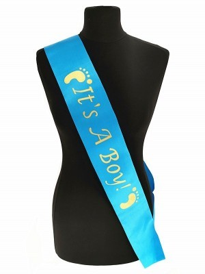 Blue With Gold 'It's A Boy!' Sash