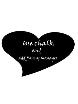 Love Heart Chalkboard Photobooth Prop