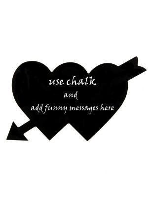 Cupid Love Hearts Chalkboard Photobooth Prop