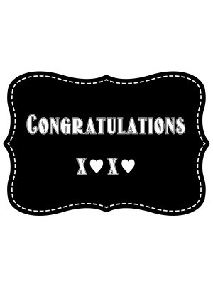 'Congratulations x❤x❤' Vintage Style Photo Booth Prop