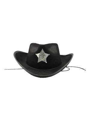 Cowboy Sheriff Hat Black
