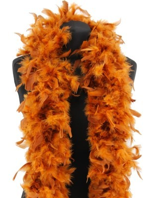 Deluxe Tawny Feather Boa – 100g -180cm