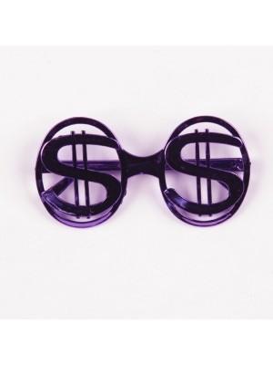 US Dollar Glasses Purple