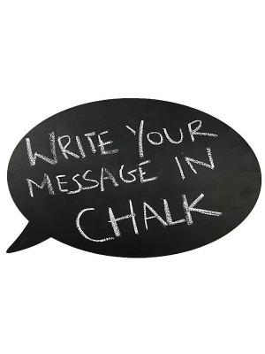 Double Sided Speech Bubble Chalkboard Photobooth Prop