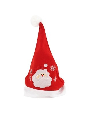 Embroidered Santa Face Christmas Hat