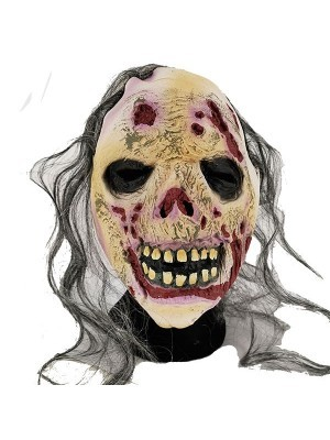 Evil Crazed Rotting Corpse Head Mask Halloween Fancy Dress Costume