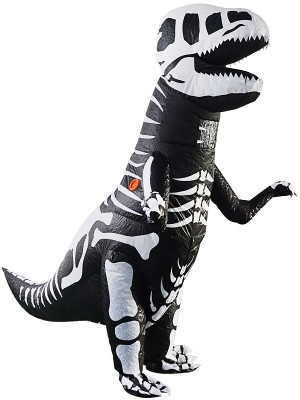 Extinct Dinosaur T-Rex Skeleton Inflatable Halloween Fancy Dress Costume
