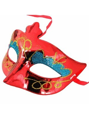 Eyeshadow Masquerade Mask Red