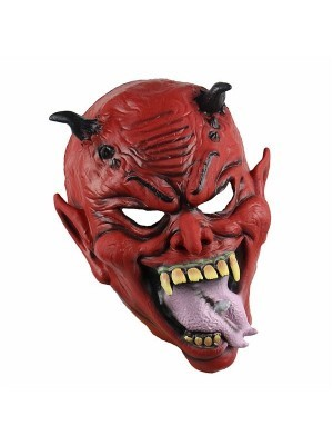 Fancy Dress, Costume Crazy Pierced Tongue Devil Mask
