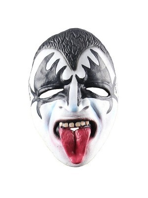 Fancy Dress, Costume Kiss Gene Simmons Latex Face Mask