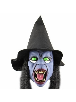Fancy Dress, Costume Purple Wicked Witch Mask