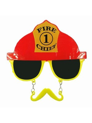 Fire Chief Sunglasses With Moustache