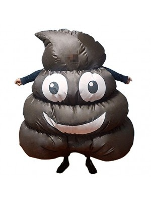 Funny Emoji Poop Inflatable Fancy Dress Costume