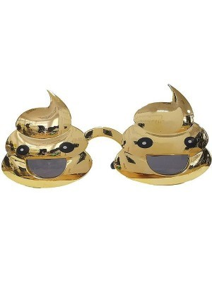 Funny Shiny Gold Poop Sunglasses
