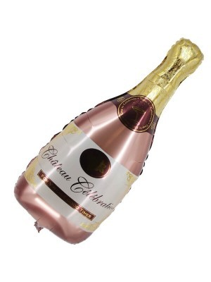 "Giant Rose Gold ""Chateau Celebration' Champagne Bottle Balloon"